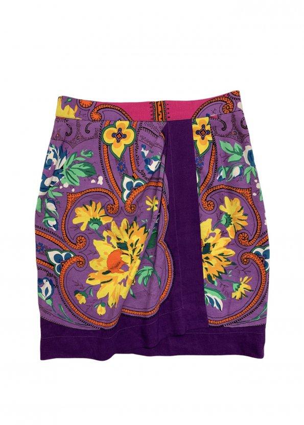חצאית מעטפת סגולה עיטורים 1