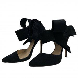 נעלי עקב שחורות עם פפיון 3