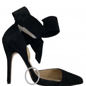 נעלי עקב שחורות עם פפיון 5