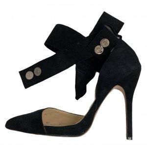 נעלי עקב שחורות עם פפיון 6