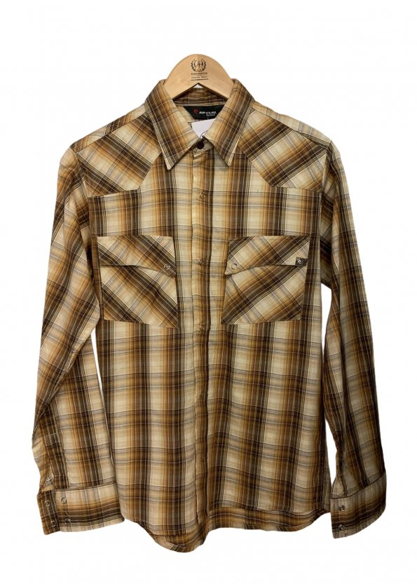חולצה מכופתרת משובצת עם שרוול ארוך 1