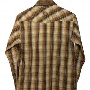 חולצה מכופתרת משובצת עם שרוול ארוך 2