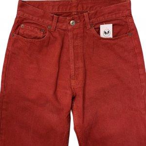מכנסי ג'ינס בגובה בורדו גבוה 4