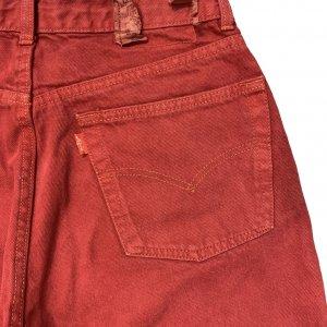 מכנסי ג'ינס בגובה בורדו גבוה 3