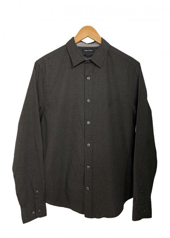 חולצה מכופתרת אפור כהה 1