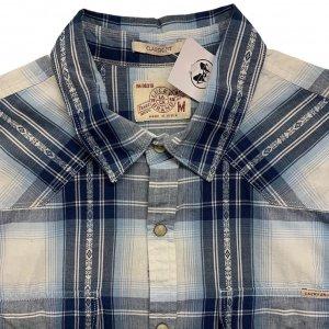 חולצה משובצת מכופתרת עם שרוולים ארוכים כחולה - Lucky Brand 3