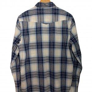 חולצה משובצת מכופתרת עם שרוולים ארוכים כחולה - Lucky Brand 2