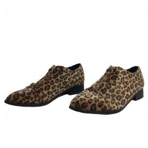 נעלי אוקספורד בדוגמת נמר עם רוכסן 2