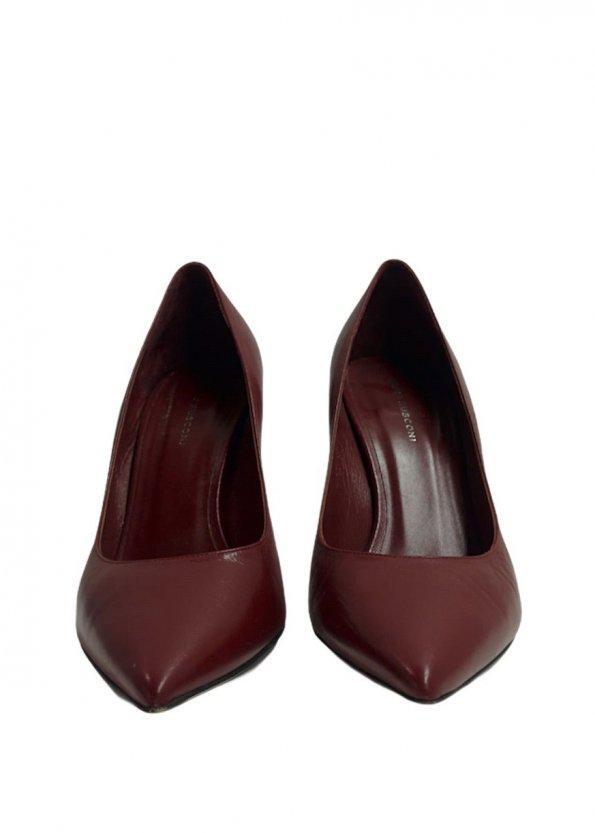 נעלי עקב שפיץ בורדו 1