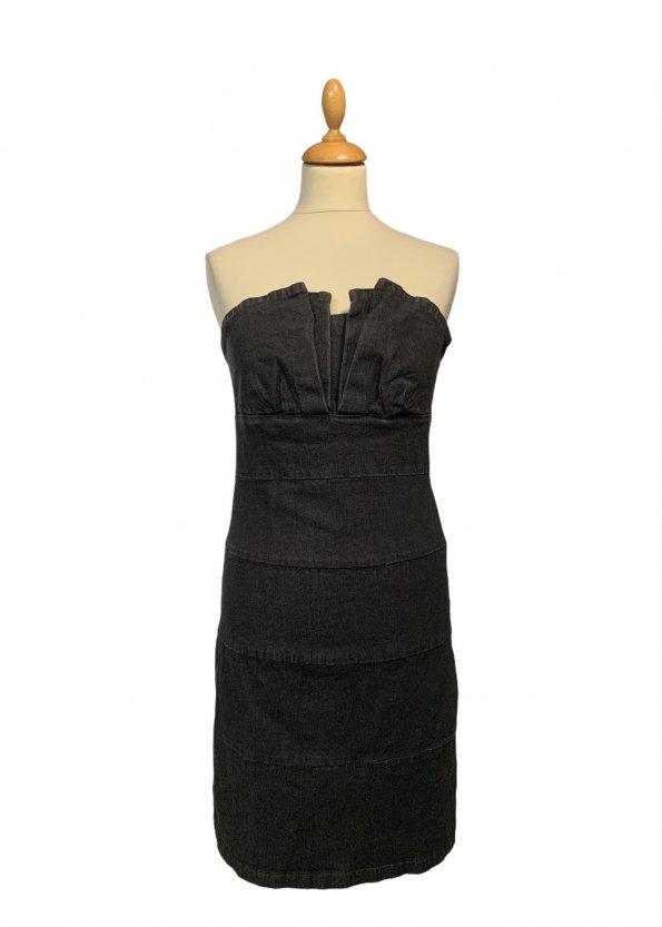שמלת סטרפלס שחור ווש 1
