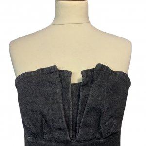 שמלת סטרפלס שחור ווש 3