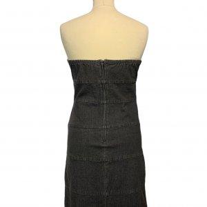 שמלת סטרפלס שחור ווש 2