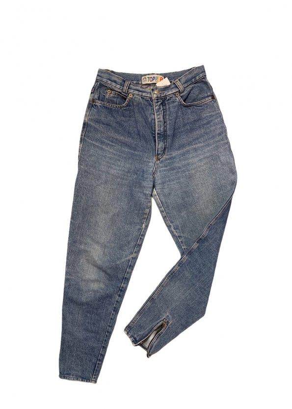 ג׳ינס baggy וינטג׳ עם רוכסנים בקרסוליים 1