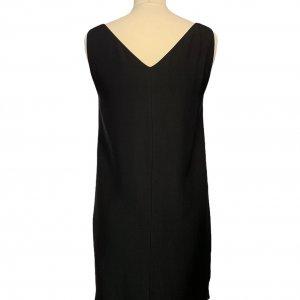 שמלה אלגנטית שרוול קצר צבע שחור דיטייל זהב 2