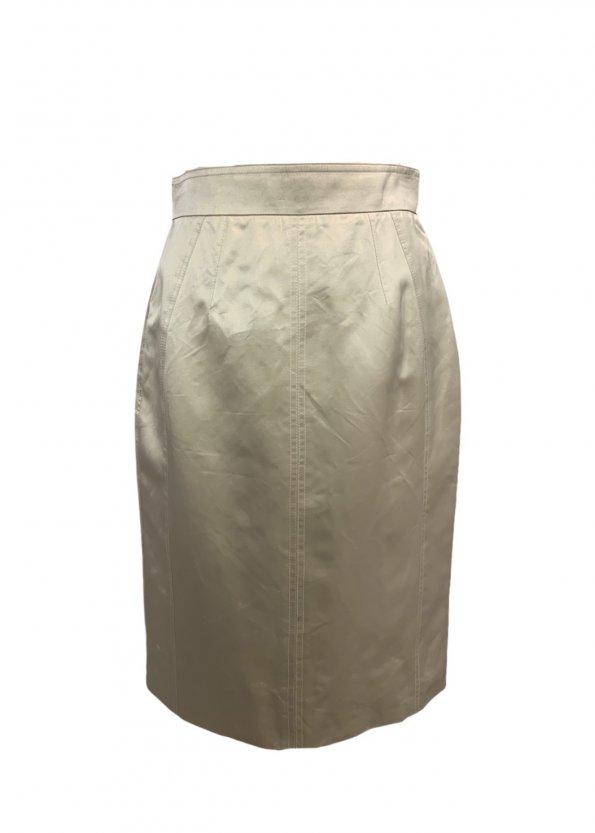 חצאית עיפרון בצבע פנינה 1