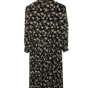 שמלת וינטג׳ שחורה פרחונית 2
