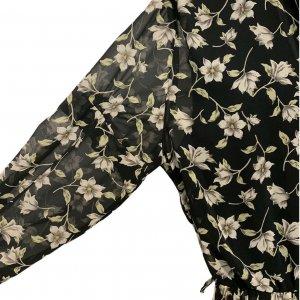 שמלת וינטג׳ שחורה פרחונית 5