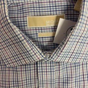 חולצה ארוכה מכופתרת כחולה משבצות - Michael Kors 3