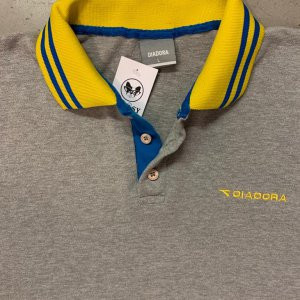 DIADORA - חולצה פולו אפורה וינטג׳ 3