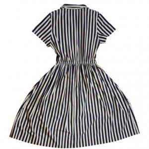 שמלת פסים כחול לבן עם עוגן 2