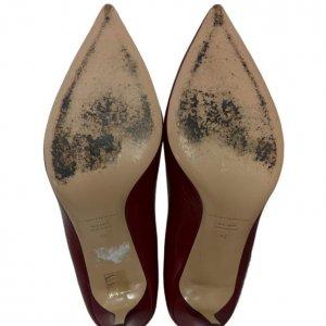 נעלי עקב שפיץ בורדו 5