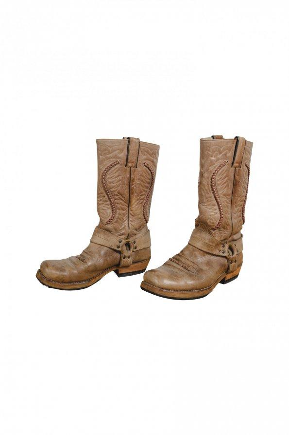 מגפיי בוקרים עור בז' - Sancho Abarca Boots 1