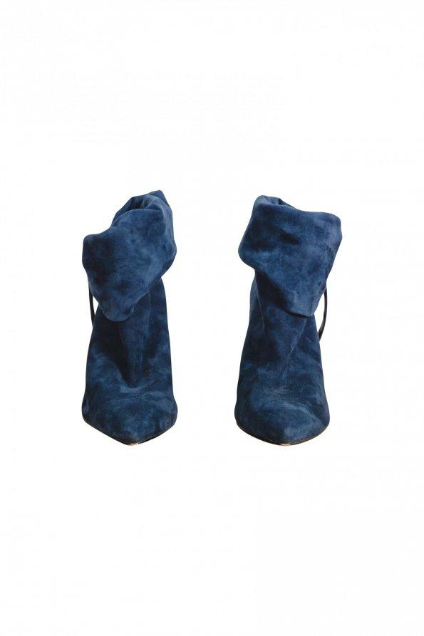 מגפי קרסול CALVIN KLEIN מזמש כחול 1