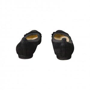 נעלי בובה עור שחור עם גומי - CHANEL 4