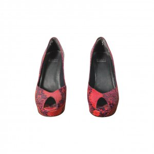 נעלי עקב נחש אדומות - STUART WEITZMAN 2
