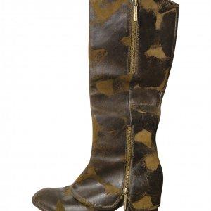 מגפיים גבוהות עור צבאי - Donald J Pliner 2