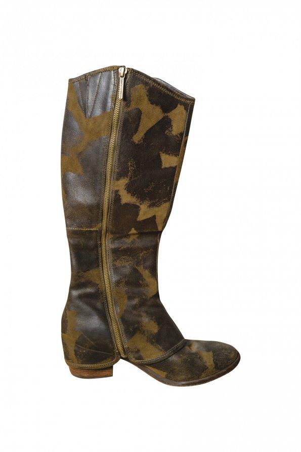 מגפיים גבוהות עור צבאי - Donald J Pliner 1