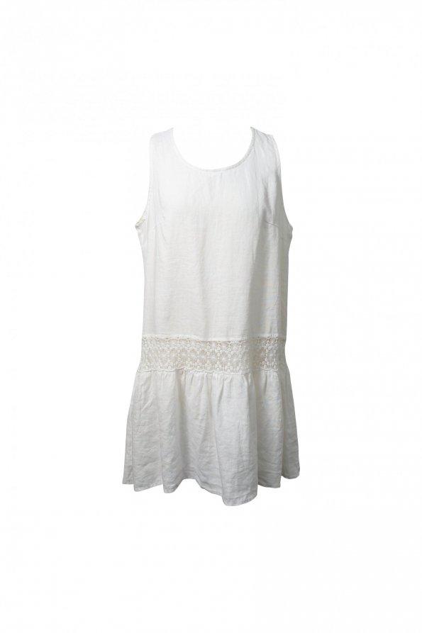 שמלת פשתן לבנה ARMANI 1