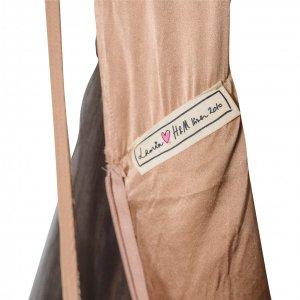 שמלת שכבות ממשי ורשת בצבע ירוק בקבוק - Lanvin for H&M 2