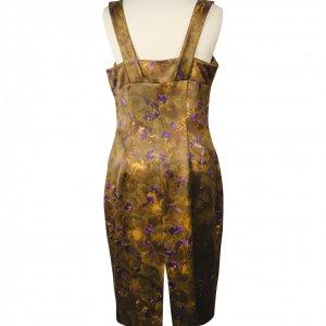 שמלה ירוק חום פרחים סגולים 3