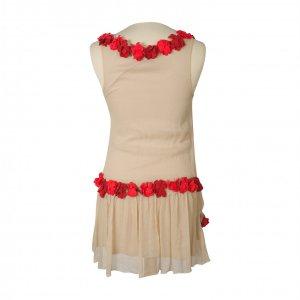 שמלה שמנת פרחים אדומים משי - Just Cavalli 3