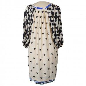 שמלת משי אתנית שמנת משלושים -DIANE von FURSTENBERG 3