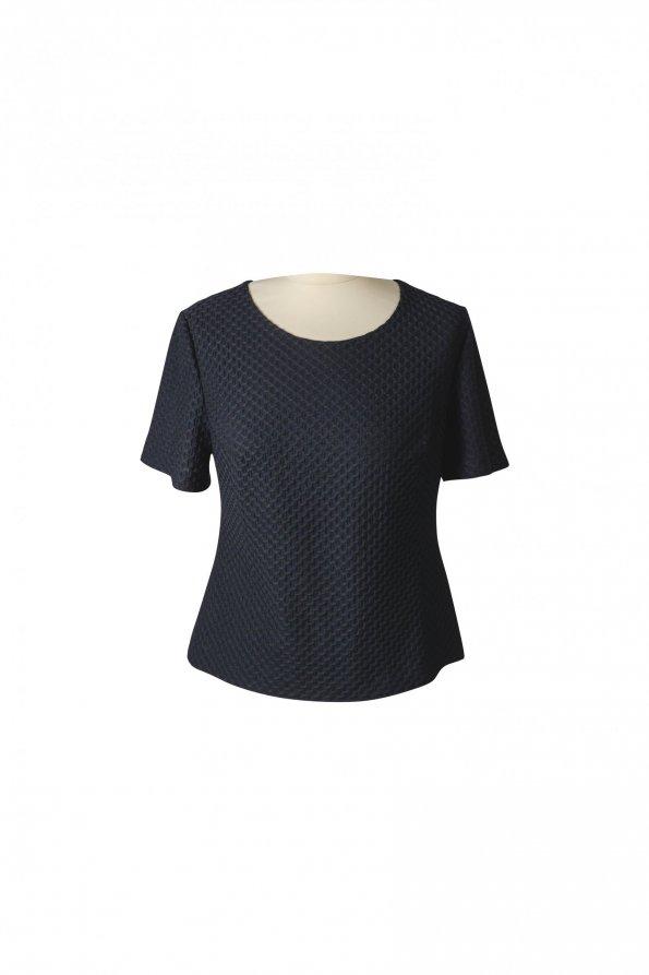 חולצה קצרה שחורה - ELIANE STOLERU 1