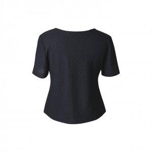 חולצה קצרה שחורה - ELIANE STOLERU 2