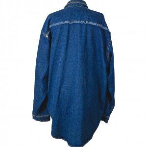 מעיל ג'ינס OVERSIZE עם כיסים דקורטיביים 2