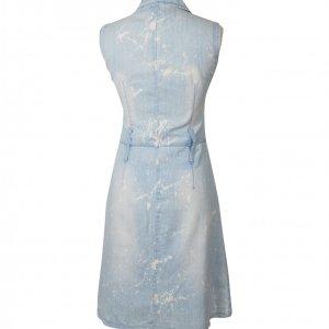 שמלת ג'ינס ריצרץ עם כתמי אקונומיקה - Versace 3