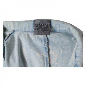 שמלת ג'ינס ריצרץ עם כתמי אקונומיקה - Versace 2