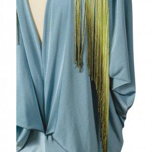 שמלת תכלת פרנזים ירוקים 2
