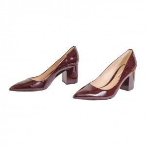 נעלי עקב בורדו לקה קארל לגפרלד - Karl Lagerfeld 2