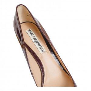 נעלי עקב בורדו לקה קארל לגפרלד - Karl Lagerfeld 5