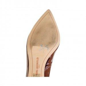 נעלי עקב בורדו לקה קארל לגפרלד - Karl Lagerfeld 4