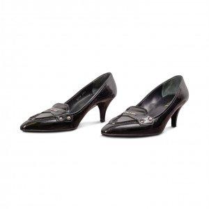 נעלי עקב לק שחורות - Prada 2