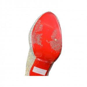 נעלי סירה עקב עם קריסטלים - Christian Louboutin 4