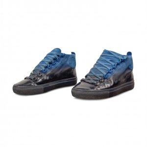 סניקרס כחול שחור balenciaga 2