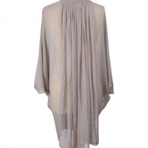 שמלה סגולה אפורה שיפון דוגמת עטלף - DVF 3
