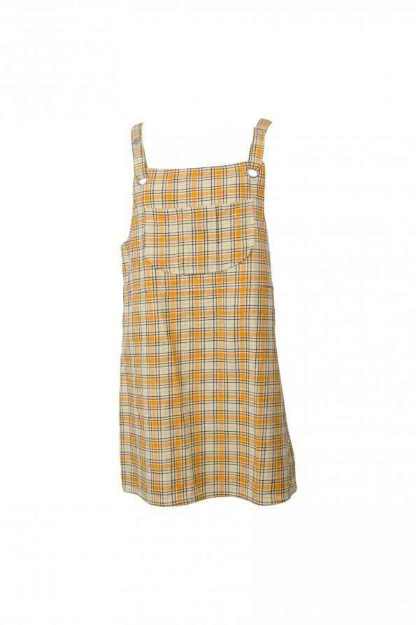 שמלה משצבות צהובה - Monki 1